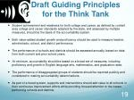 draft guiding principles for the think tank