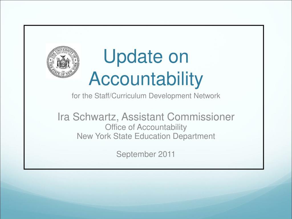 update on accountability l.