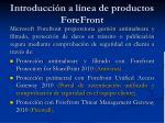 introducci n a l nea de productos forefront4