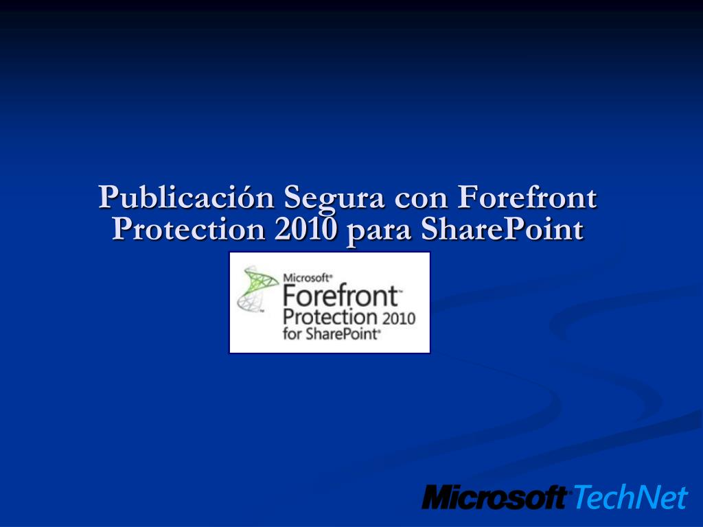 publicaci n segura con forefront protection 2010 para sharepoint l.