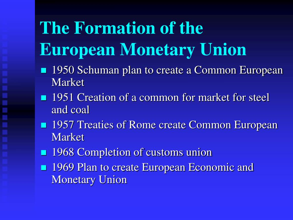 the formation of the european monetary union l.