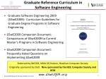 graduate reference curriculum in software engineering