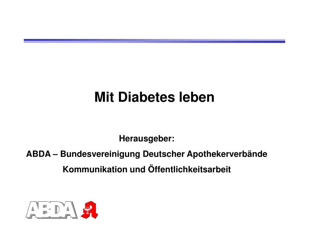 mit diabetes leben l.