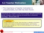 5 3 teacher motivation