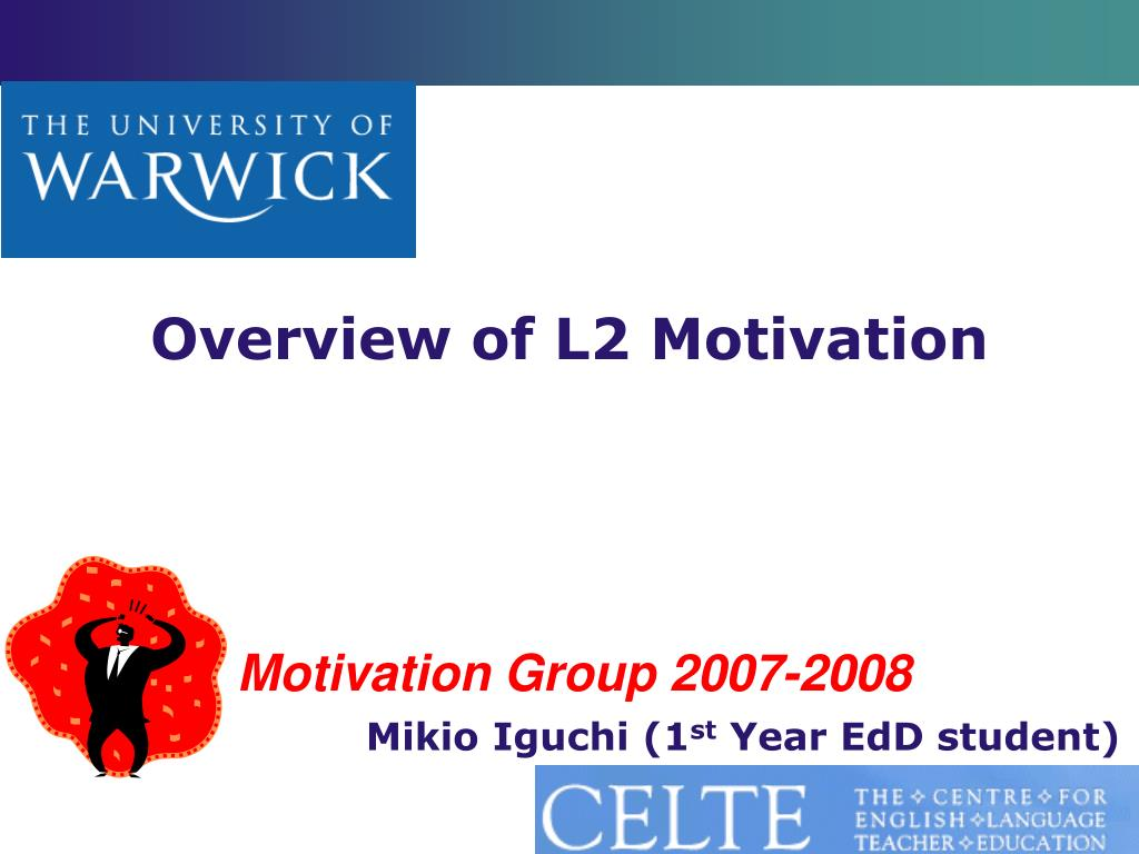overview of l2 motivation l.