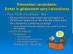 pr vention secondaire eviter le glissement vers l alcoolisme