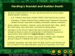 harding s scandal and sudden death