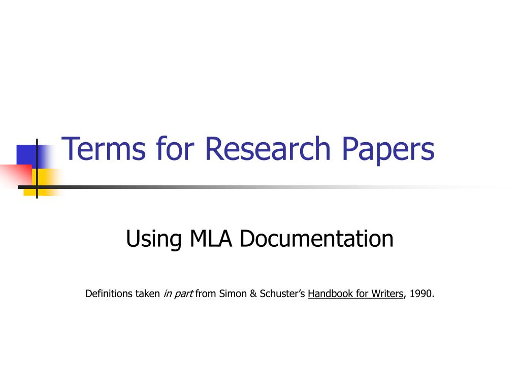 terms for research papers l.