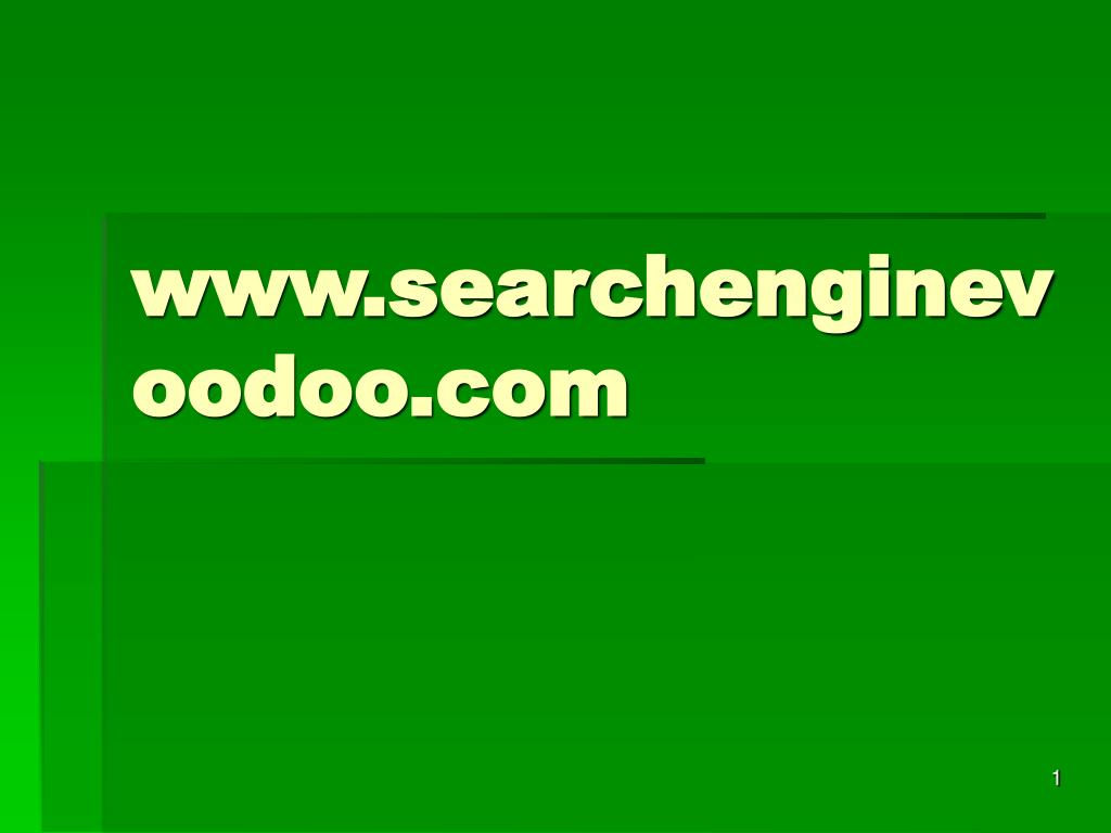 www searchenginevoodoo com l.