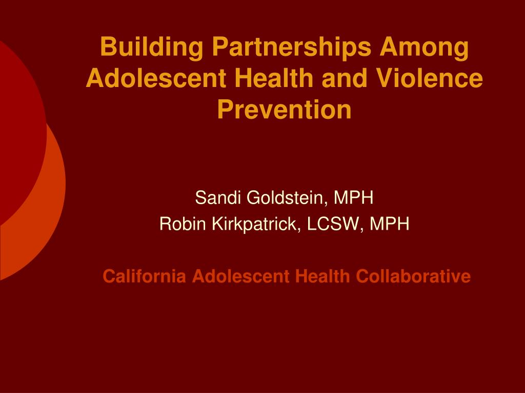 sandi goldstein mph robin kirkpatrick lcsw mph california adolescent health collaborative l.