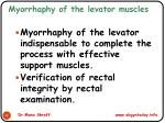 myorrhaphy of the levator muscles