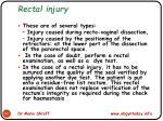 rectal injury