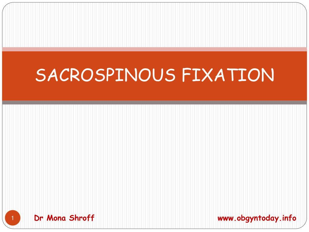 sacrospinous fixation l.