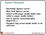 suture placement