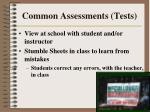 common assessments tests39