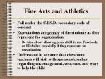 fine arts and athletics199