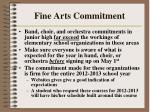 fine arts commitment