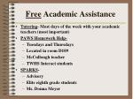 free academic assistance
