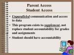 parent access student access45