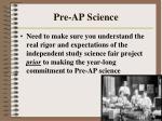 pre ap science
