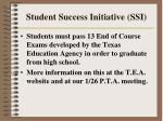 student success initiative ssi43