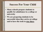 success for your child