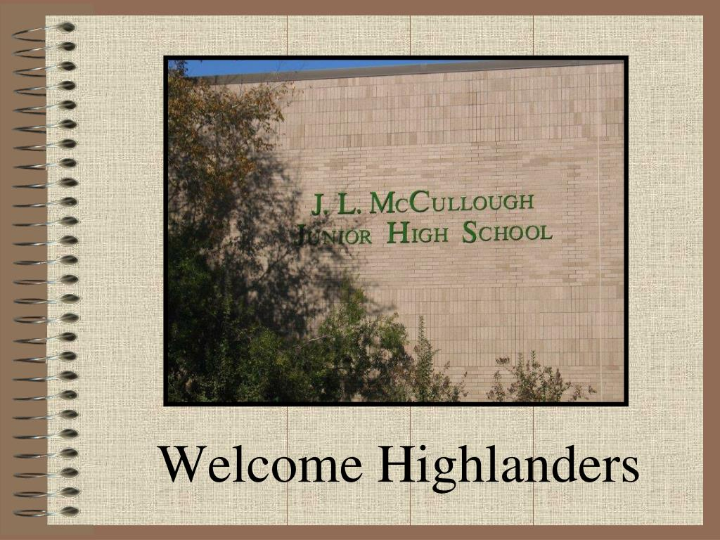 welcome highlanders l.