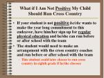 what if i am not positive my child should run cross country