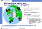 einfluss der informations und kommunikationstechnologie ikt