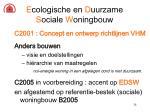 e cologische en d uurzame s ociale w oningbouw28