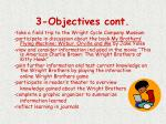 3 objectives cont