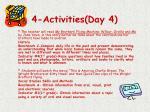 4 activities day 4