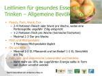 leitlinien f r gesundes essen und trinken allgemeine bev lkerung15