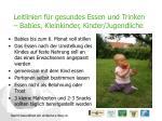 leitlinien f r gesundes essen und trinken babies kleinkinder kinder jugendliche