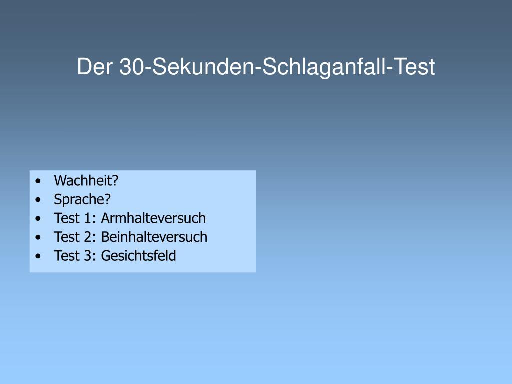 Der 30-Sekunden-Schlaganfall-Test