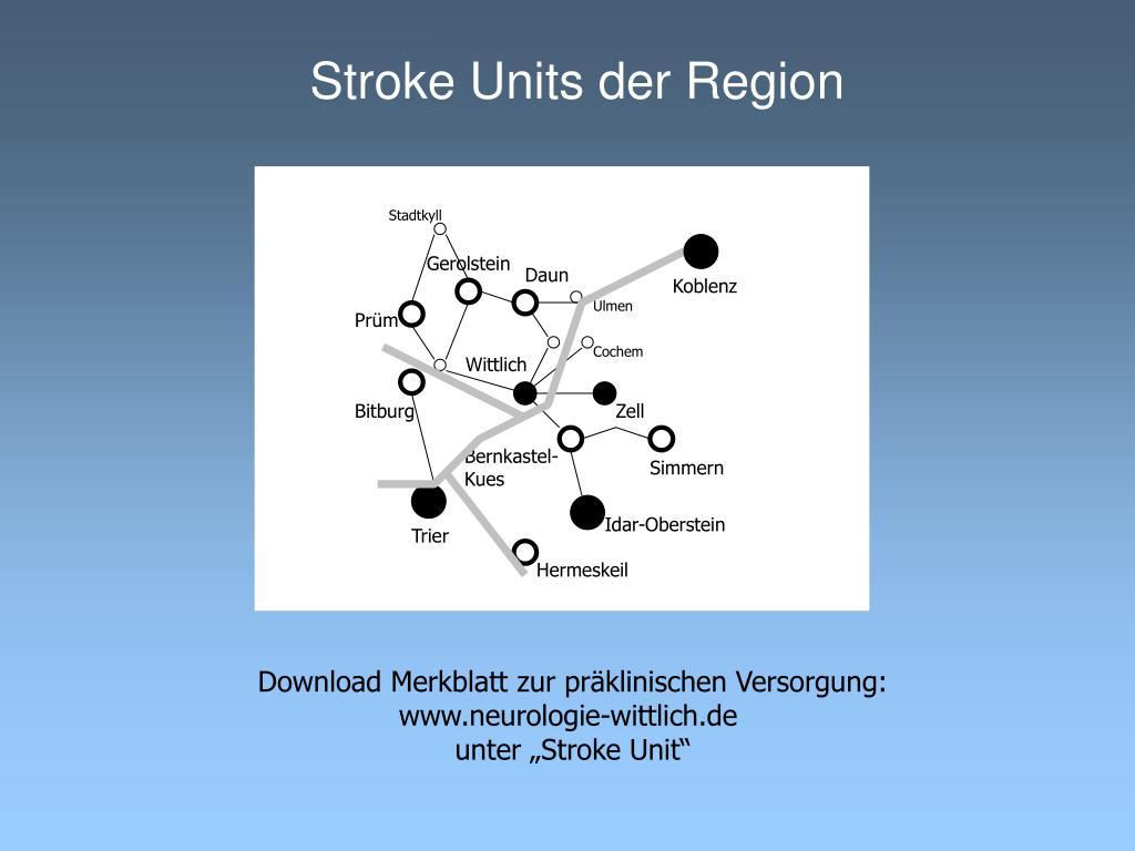 Stroke Units der Region