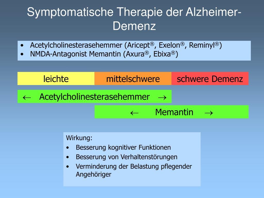 Symptomatische Therapie der Alzheimer-Demenz