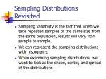 sampling distributions revisited