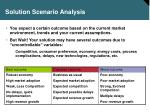 solution scenario analysis
