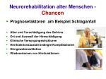 neurorehabilitation alter menschen chancen24