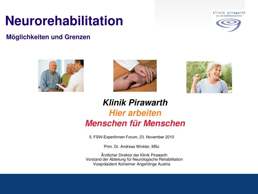 neurorehabilitation m glichkeiten und grenzen l.