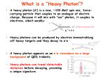 what is a heavy photon