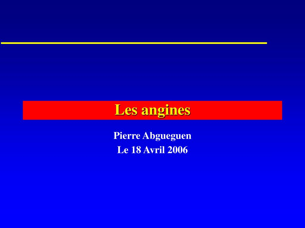 les angines l.
