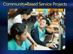 community based service projects