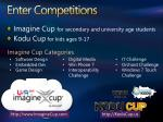 enter competitions