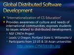 global distributed software development