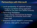 partnerships with microsoft
