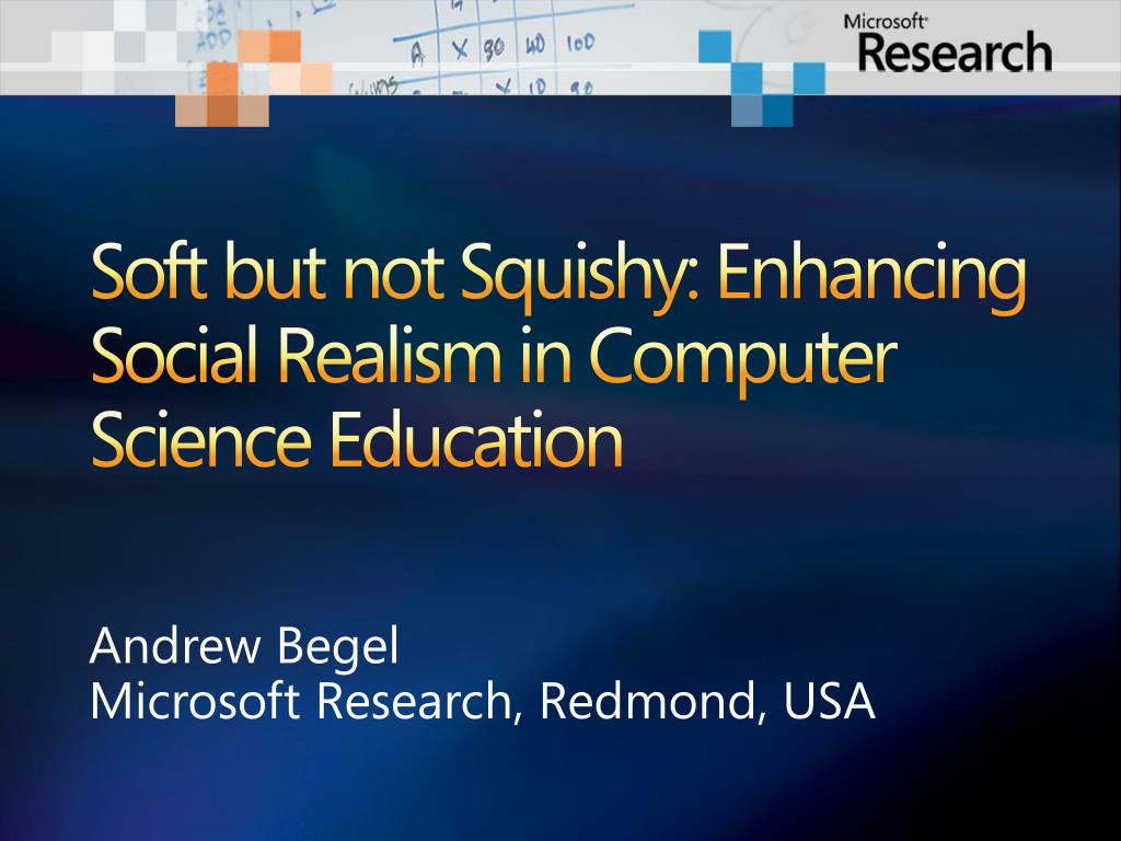 soft but not squishy enhancing social realism in computer science education l.