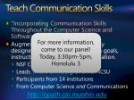 teach communication skills