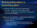 technical education vs social education